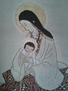 Mother of Divine Grace. Textile. Japan, Contemporary.