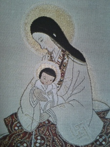 Mother of Divine Grace. Textile. Japan, Contemporary.